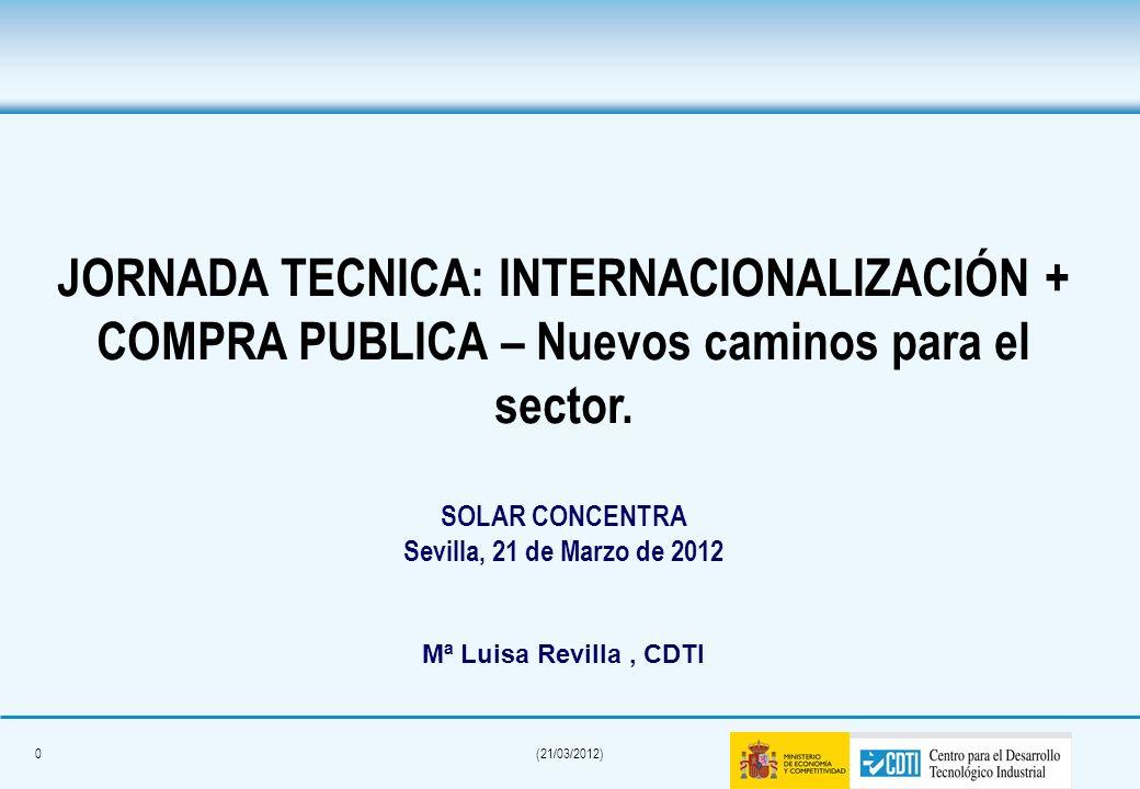 JORNADA TECNICA: INTERNACIONALIZACIÓN + COMPRA PUBLICA – Nuevos caminos para el sector.