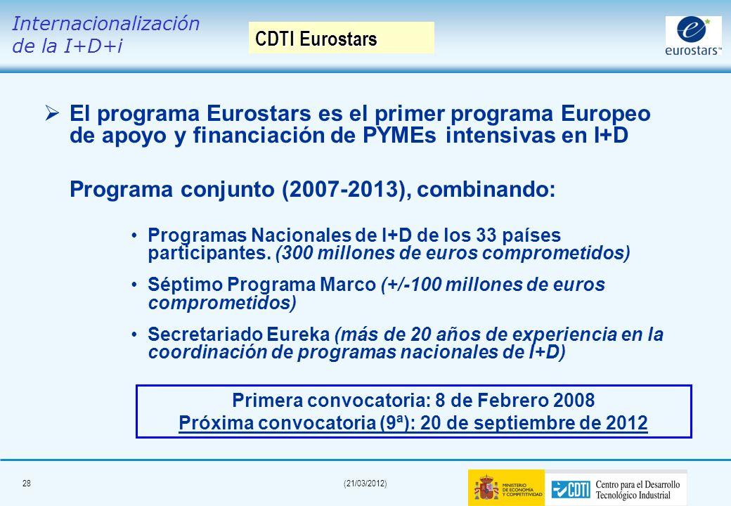 Programa conjunto (2007-2013), combinando: