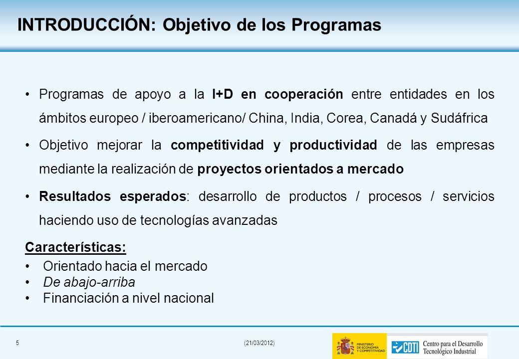 INTRODUCCIÓN: Objetivo de los Programas