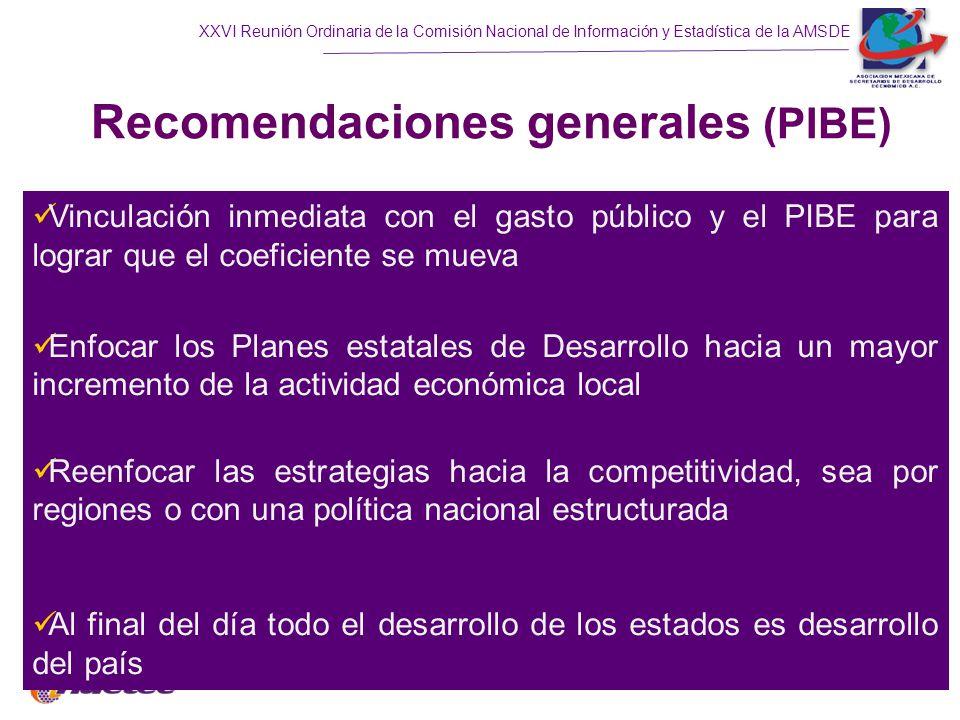 Recomendaciones generales (PIBE)