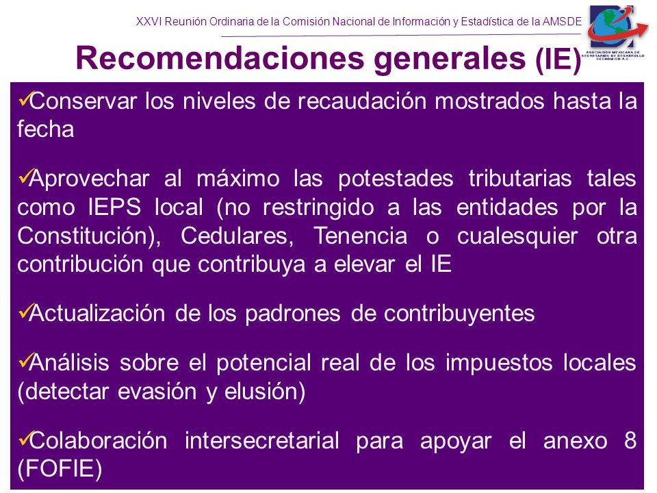 Recomendaciones generales (IE)