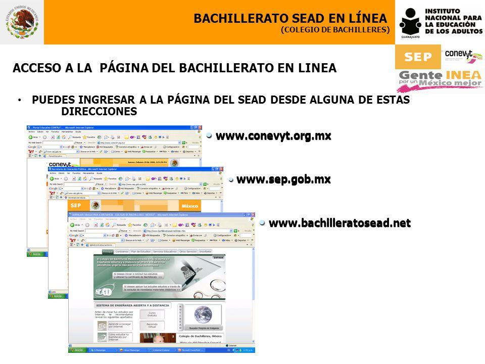 www.conevyt.org.mx www.bachilleratosead.net BACHILLERATO SEAD EN LÍNEA