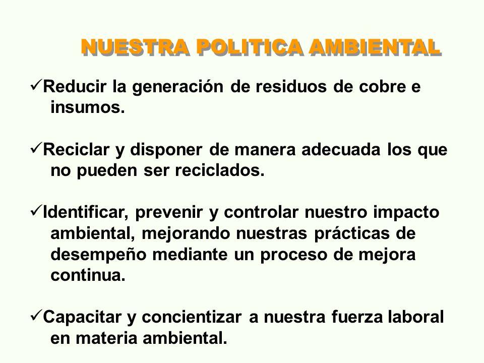 NUESTRA POLITICA AMBIENTAL