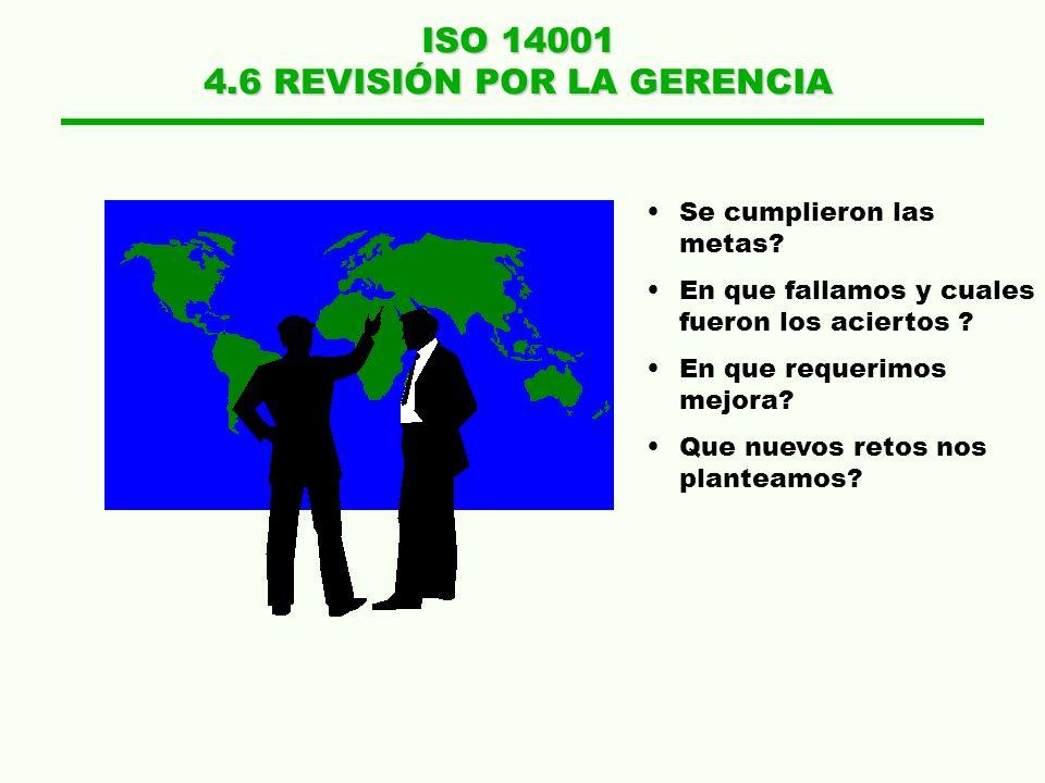 4.6 REVISIÓN POR LA GERENCIA
