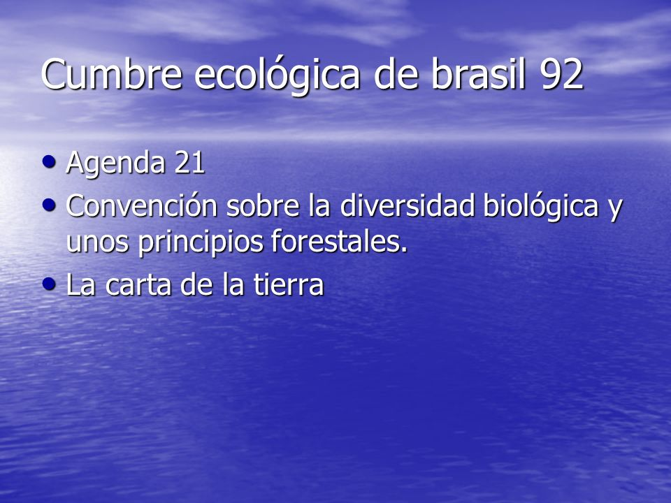 Cumbre ecológica de brasil 92