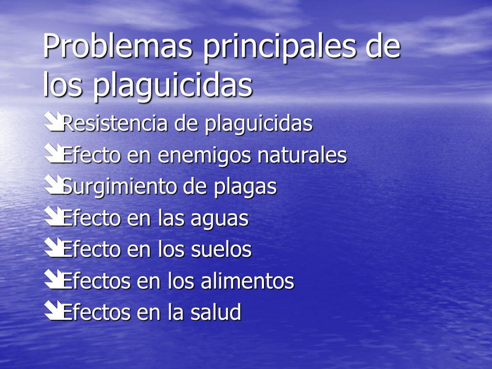 Problemas principales de los plaguicidas