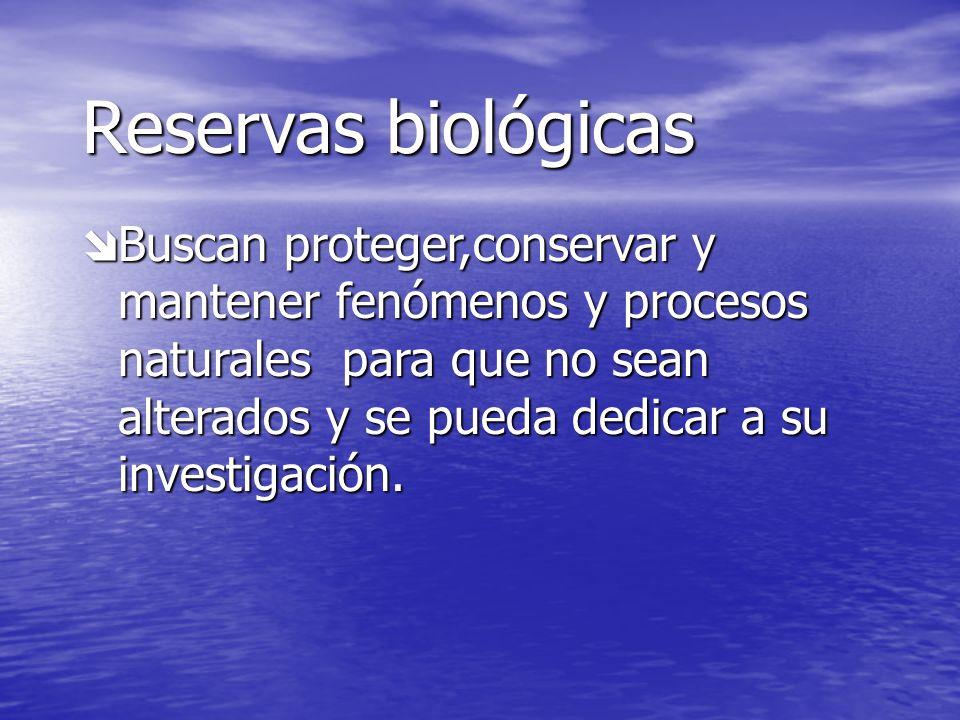 Reservas biológicas