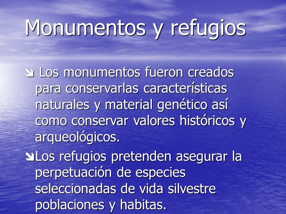 Monumentos y refugios