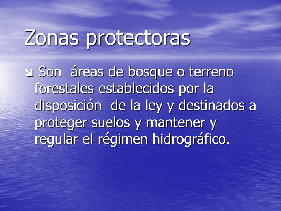 Zonas protectoras