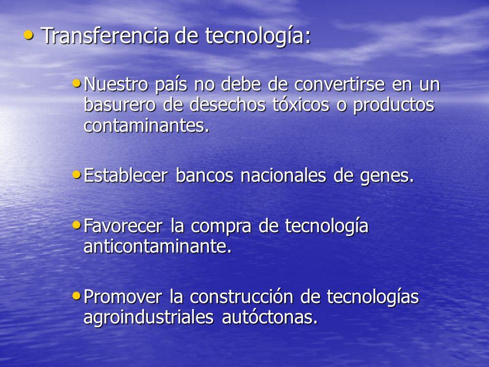 Transferencia de tecnología: