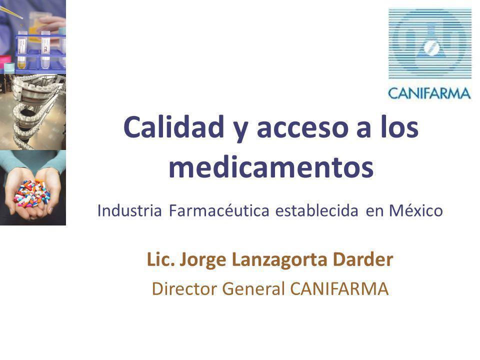 Calidad y acceso a los medicamentos