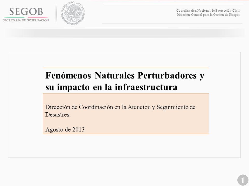 Fenómenos Naturales Perturbadores y su impacto en la infraestructura