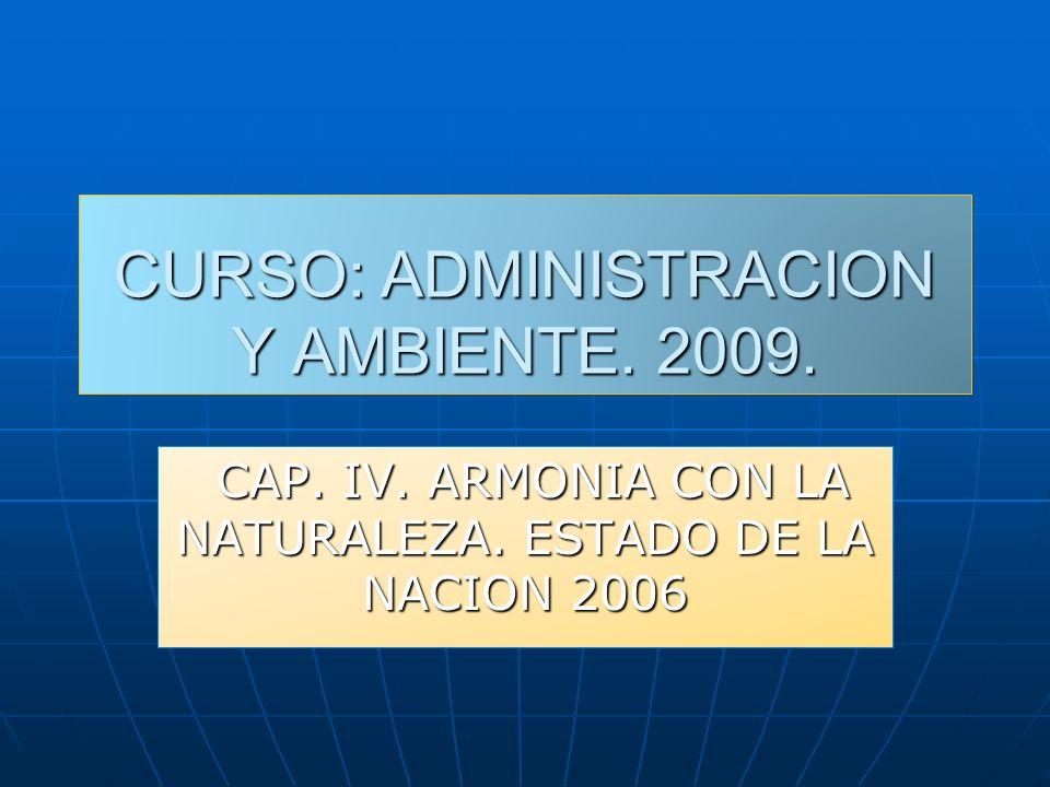 CURSO: ADMINISTRACION Y AMBIENTE. 2009.