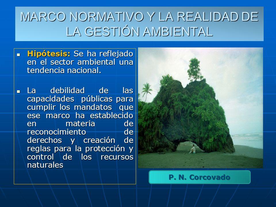 MARCO NORMATIVO Y LA REALIDAD DE LA GESTIÓN AMBIENTAL