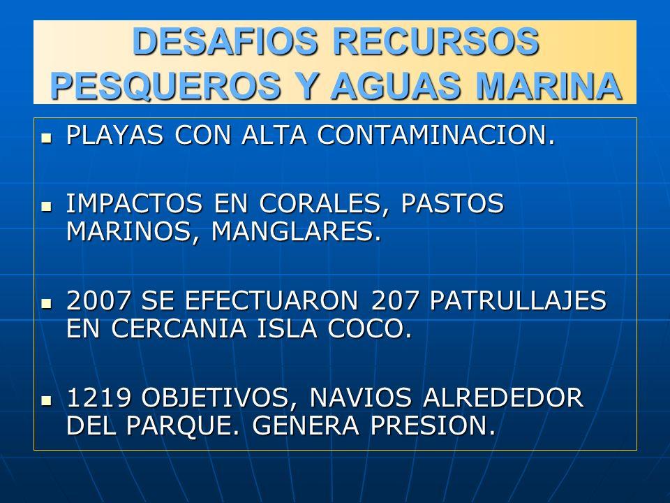 DESAFIOS RECURSOS PESQUEROS Y AGUAS MARINA