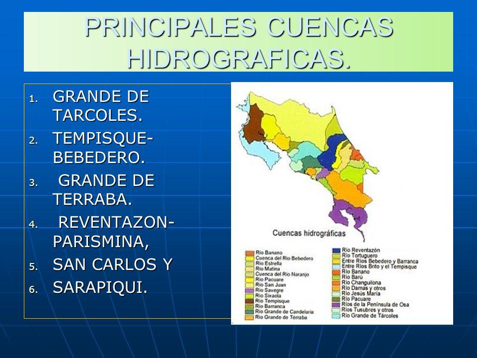 PRINCIPALES CUENCAS HIDROGRAFICAS.