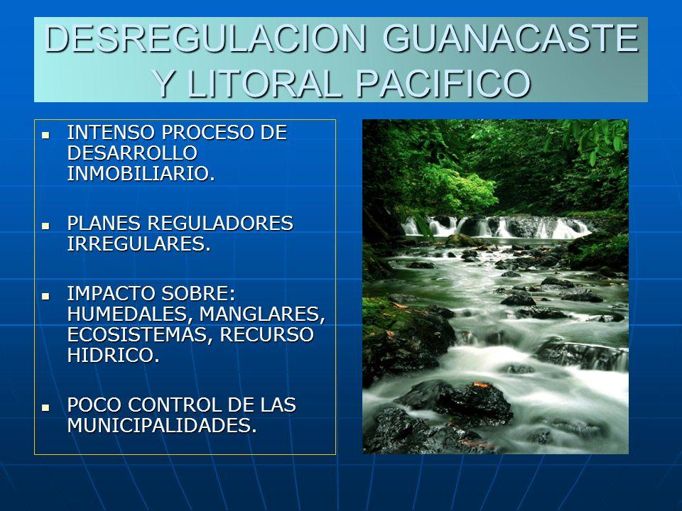 DESREGULACION GUANACASTE Y LITORAL PACIFICO