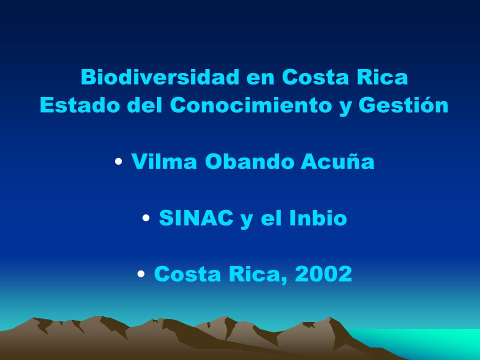 Biodiversidad en Costa Rica Estado del Conocimiento y Gestión
