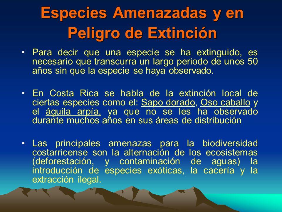 Especies Amenazadas y en Peligro de Extinción