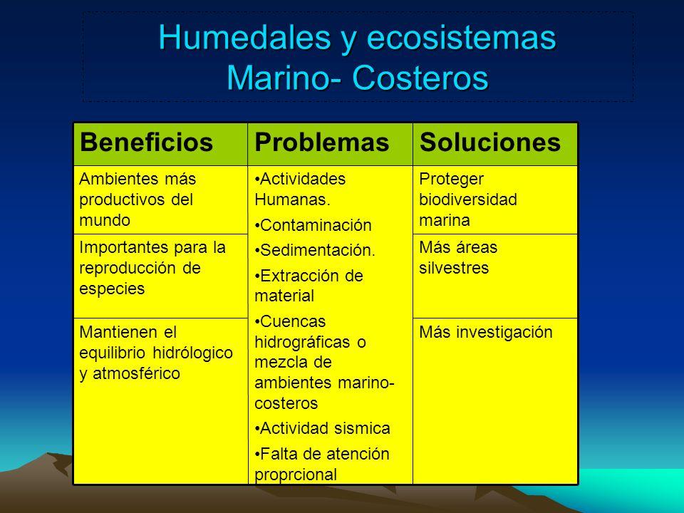 Humedales y ecosistemas Marino- Costeros