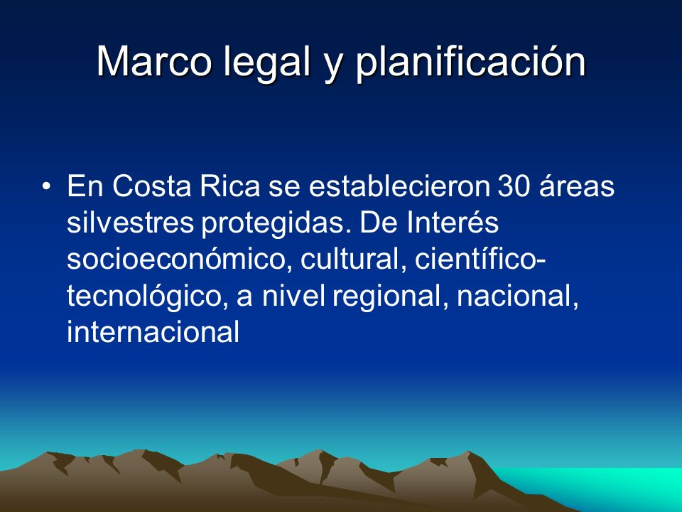 Marco legal y planificación