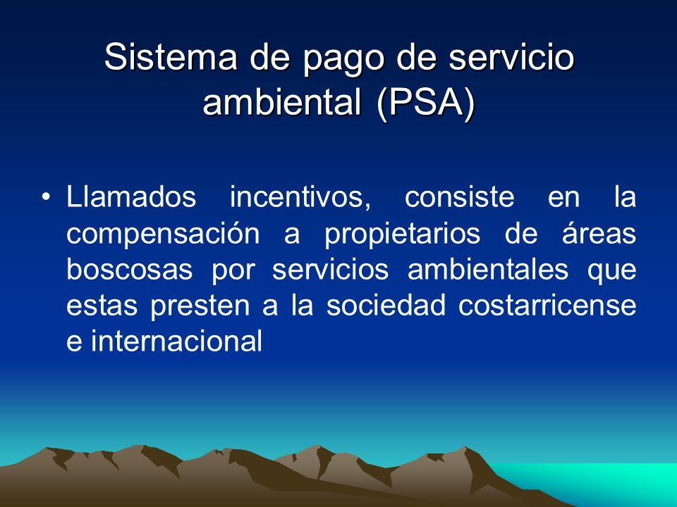 Sistema de pago de servicio ambiental (PSA)