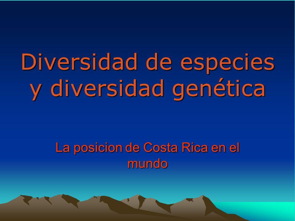 Diversidad de especies y diversidad genética