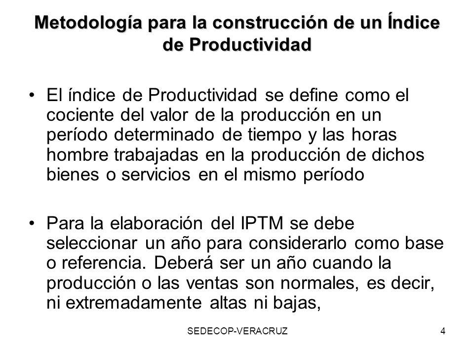 Metodología para la construcción de un Índice de Productividad