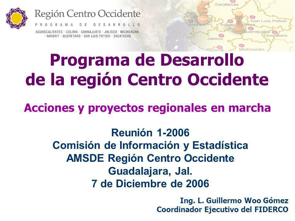 Programa de Desarrollo de la región Centro Occidente