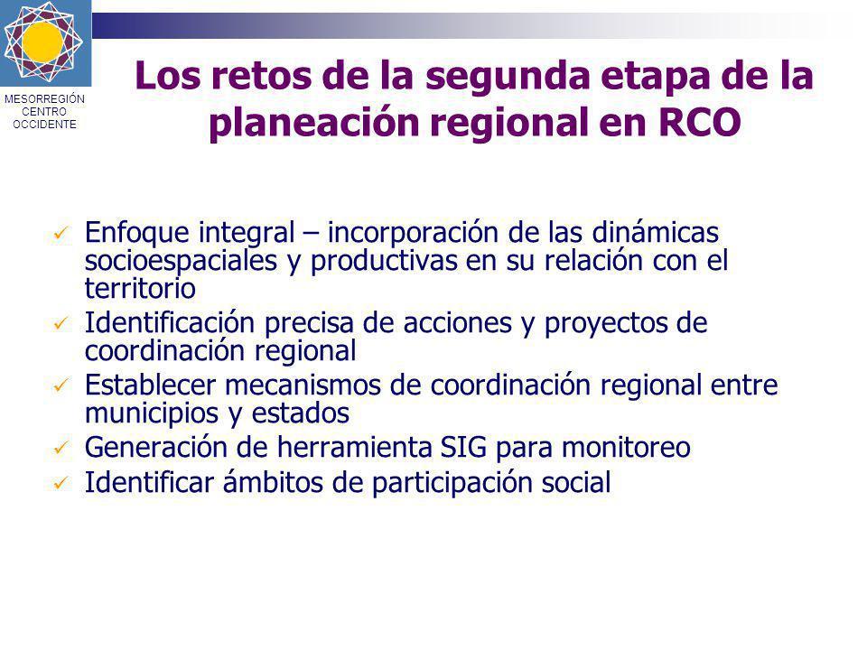 Los retos de la segunda etapa de la planeación regional en RCO