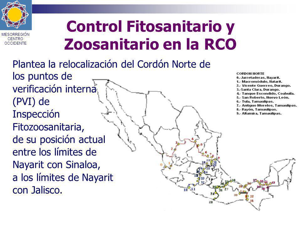 Control Fitosanitario y Zoosanitario en la RCO
