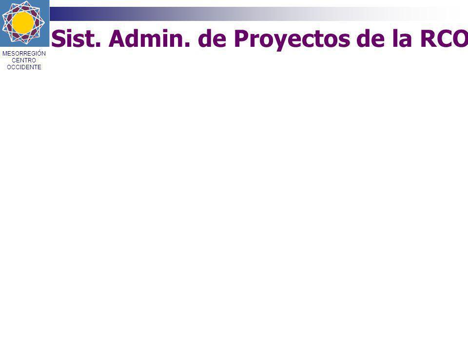 Sist. Admin. de Proyectos de la RCO