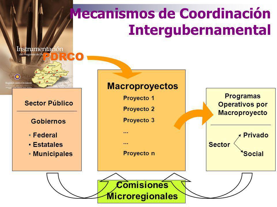 Programas Operativos por Macroproyecto Comisiones Microregionales
