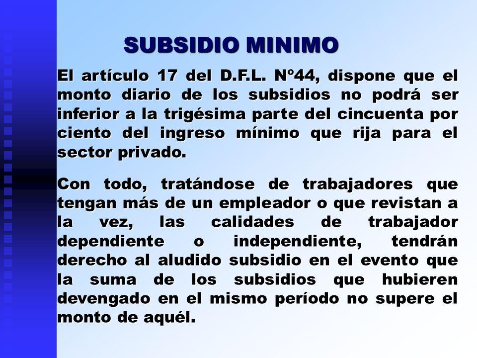 SUBSIDIO MINIMO