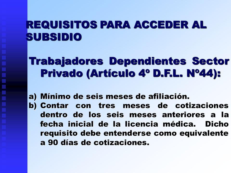 REQUISITOS PARA ACCEDER AL SUBSIDIO