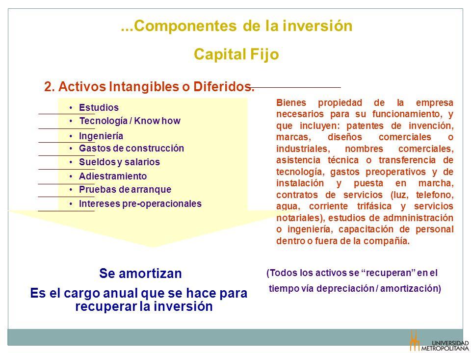 ...Componentes de la inversión