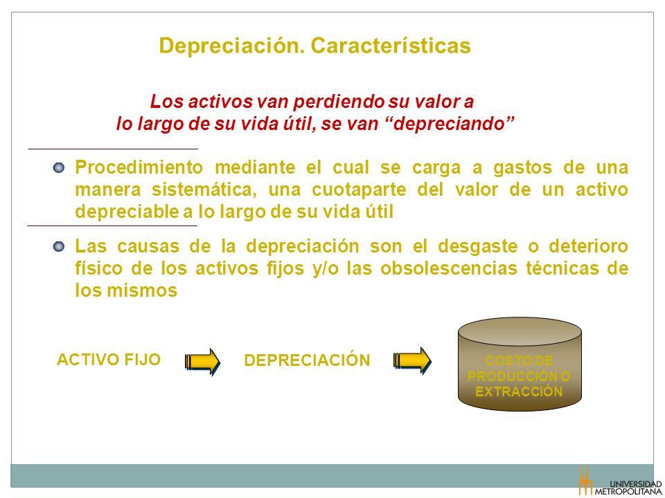 Depreciación. Características