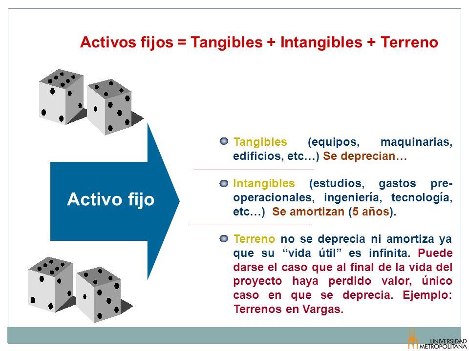 Activo fijo Activos fijos = Tangibles + Intangibles + Terreno