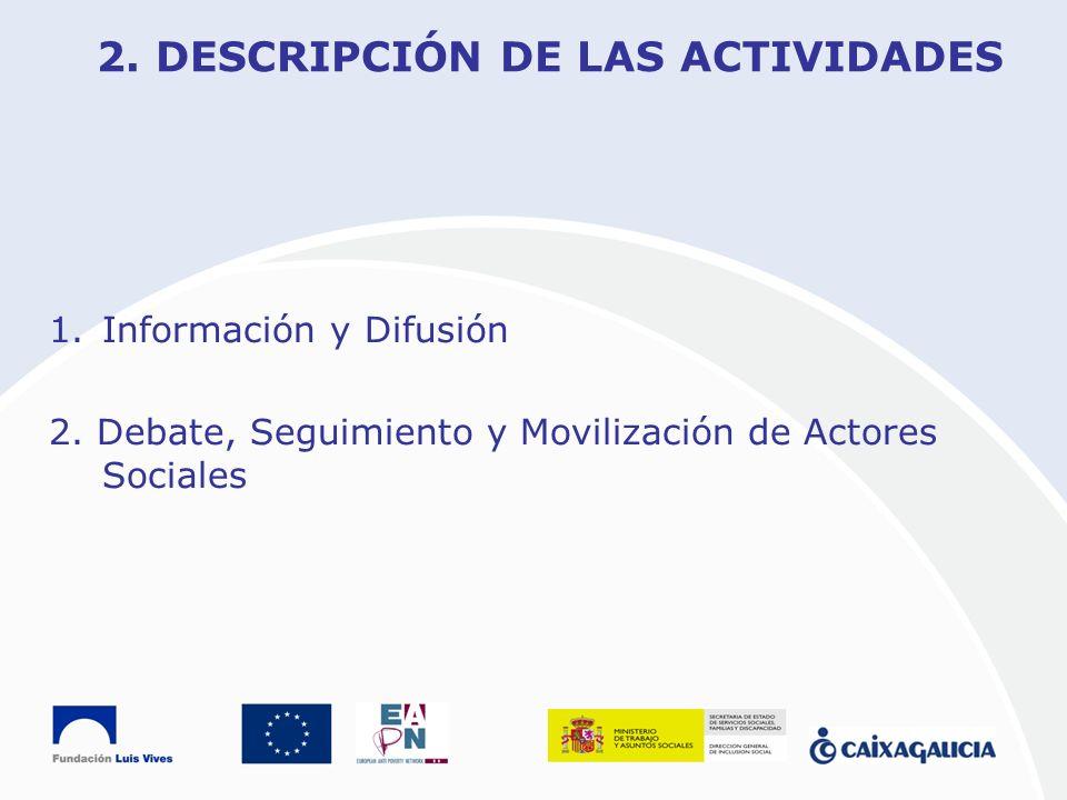 2. DESCRIPCIÓN DE LAS ACTIVIDADES