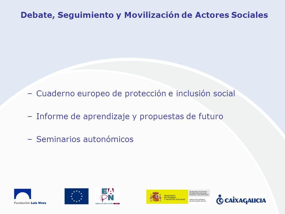 Debate, Seguimiento y Movilización de Actores Sociales