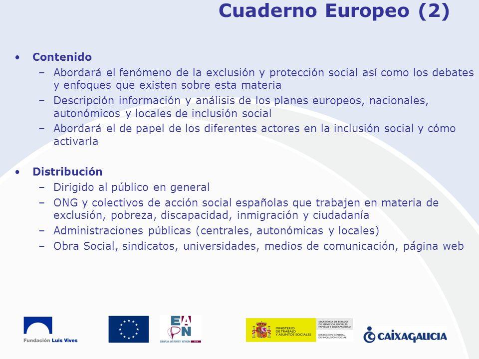 Cuaderno Europeo (2) Contenido