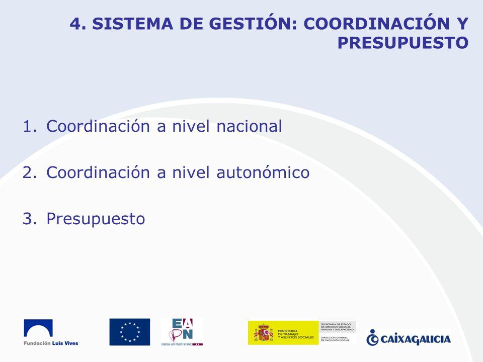 4. SISTEMA DE GESTIÓN: COORDINACIÓN Y PRESUPUESTO