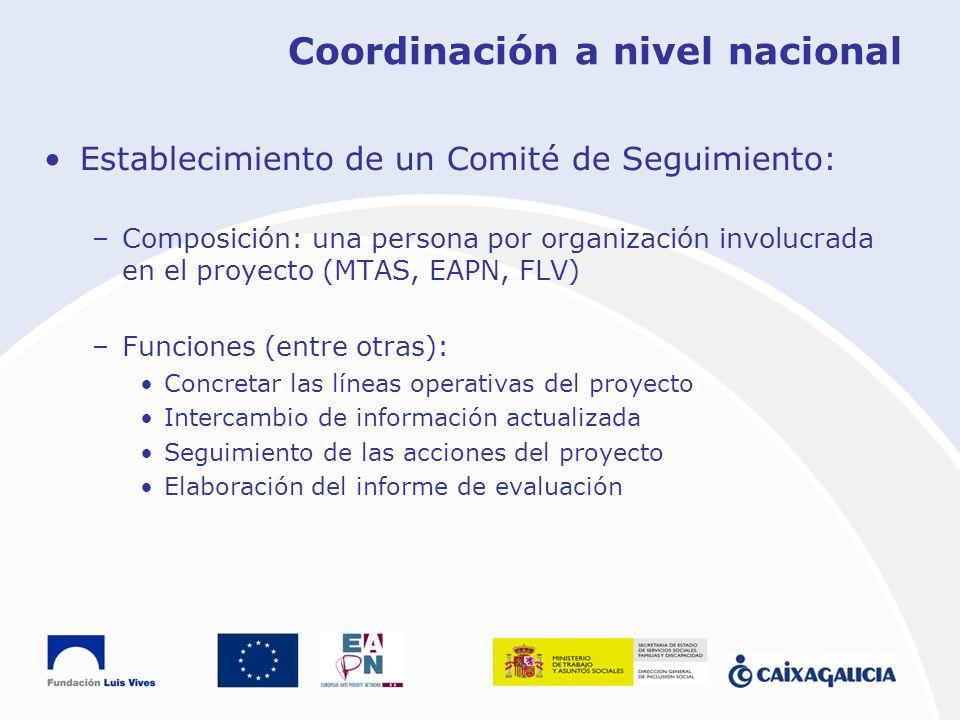 Coordinación a nivel nacional