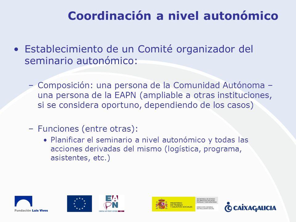 Coordinación a nivel autonómico