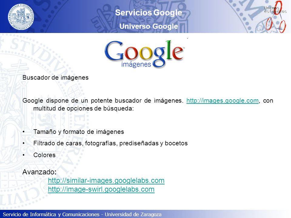 Servicios Google Universo Google Avanzado: