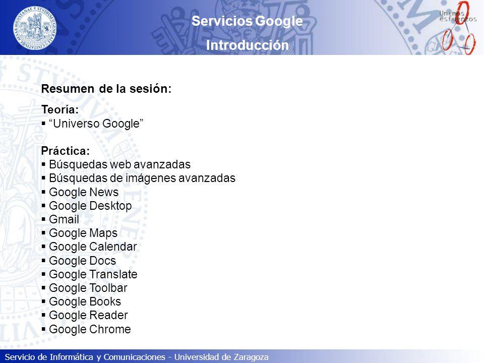 Servicios Google Introducción
