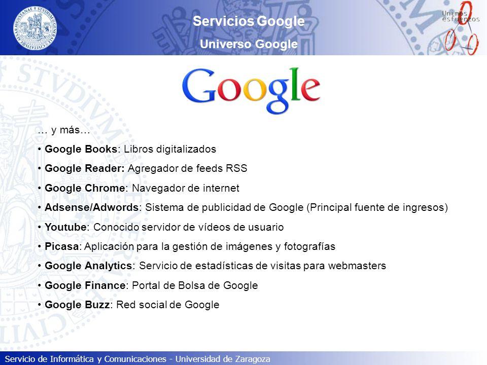 Servicios Google Universo Google … y más…