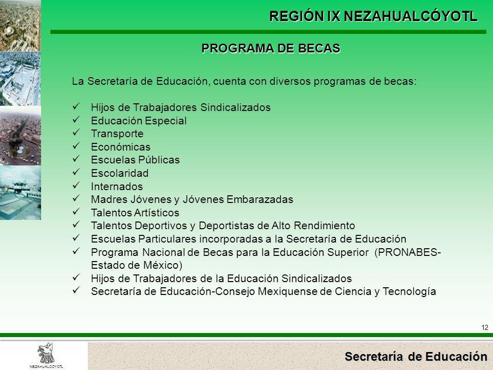 PROGRAMA DE BECAS La Secretaría de Educación, cuenta con diversos programas de becas: Hijos de Trabajadores Sindicalizados.