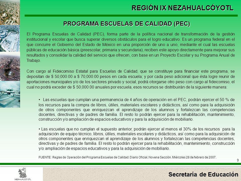 PROGRAMA ESCUELAS DE CALIDAD (PEC)