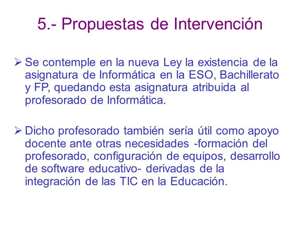 5.- Propuestas de Intervención